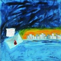 '' Ξημέρωμα ''<br> Ακρυλικό<br> 70 x 70